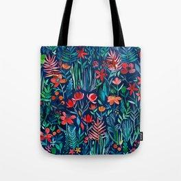 Tropical Ink - a watercolor garden Tote Bag