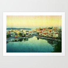 Agios Nikolaos Art Print