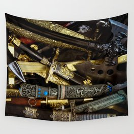 Collage - Daggers, Dirks and Sabres Wall Tapestry