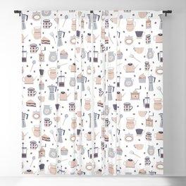 Cute coffee pattern Blackout Curtain