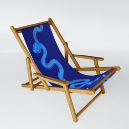 blue pathways Sling Chair