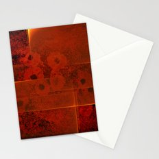 Abstract fiery landscape Stationery Cards