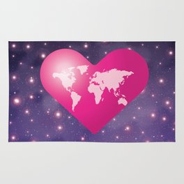 World Love in Universe Rug