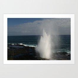 Blow Hole, Kauai Hawaii Art Print