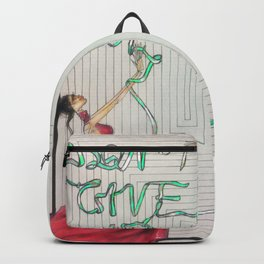 Green ribbon (Don't give up, honey!) Backpack
