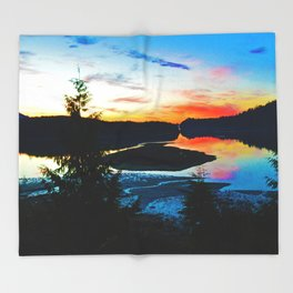 Sunrise in Ucluelet on Vancouver Island, BC Throw Blanket