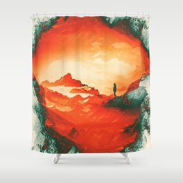 Occupy Mars a Red Sci fy Landscape Shower Curtain