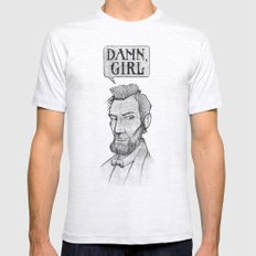 Damn, Lincoln SMALL Ash Grey Mens Fitted Tee