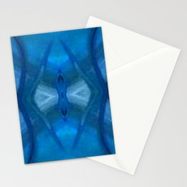 Pattern III Blue Stationery Cards