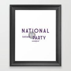 National Sausage Party Framed Art Print