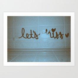 let's kiss  Art Print