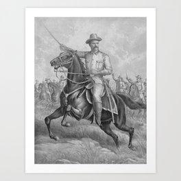 Colonel Theodore Roosevelt On Horseback Art Print