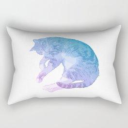 Gorgeous Pastel Cat Image Rectangular Pillow