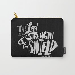 Psalm 28: 7 II Carry-All Pouch
