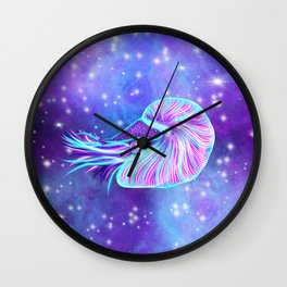The Celestial Chambered Nautilus Wall Clock