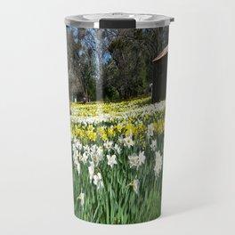 Daffodils and Barn Travel Mug