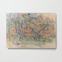 Trees and Houses, Provence Metal Print