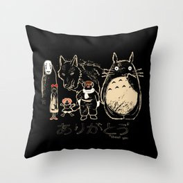 Tribute for Miyazaki Throw Pillow