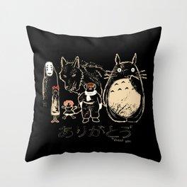 Tribute for Miyazaki Throw Pillow