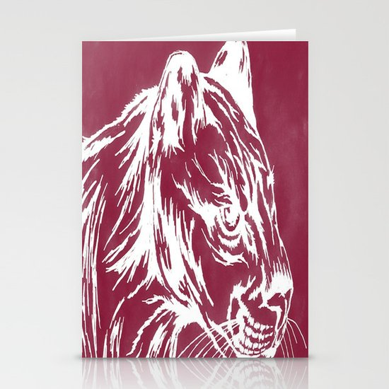 red cougar Stationery Cards