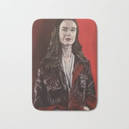 Abigail, acrylic painting Bath Mat