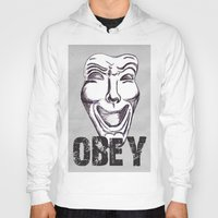 obey Hoodies featuring Obey by Cat Milchard