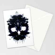Rorschach skull dark Stationery Cards
