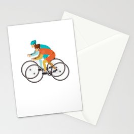 Biker Bike Bicycle Cyclist BMX Bicycling Cycling Exercise Workout Pedal Gift Stationery Cards