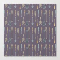 arrows Canvas Prints featuring Arrows by Ceren Aksu Dikenci