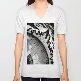 town and eyes Unisex V-Neck
