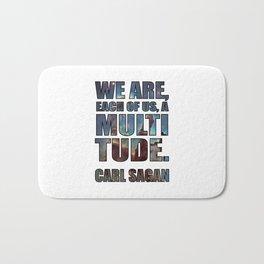 Each of us, a Multitude [White] Bath Mat