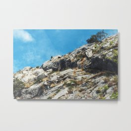 View from the fortress Stari Grad of the city of Omis in Croatia. Metal Print