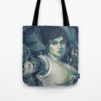 the legend of korra Tote Bags featuring Korra by MATT DEMINO
