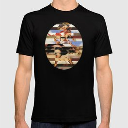 Glitch Pin-Up Redux: Daisy T-shirt