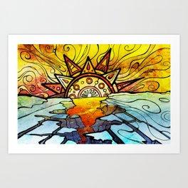 "SunRise ""Global Warming"" Art Print"