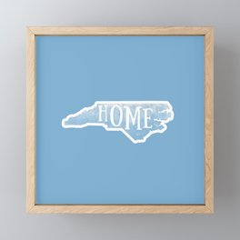 North Carolina Map State Blue Watercolor NC Home Framed Mini Art Print