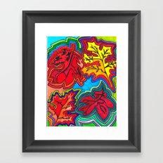 FALLing FOLiage Framed Art Print