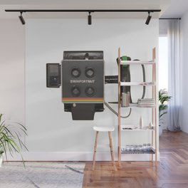 vintage instant camera Wall Mural