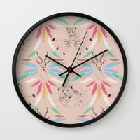 safari Wall Clocks featuring Safari by Laura Braisher