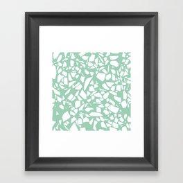 Terrazzo Mint Framed Art Print
