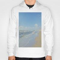 denmark Hoodies featuring North sea coastline in Denmark by Ricarda Balistreri