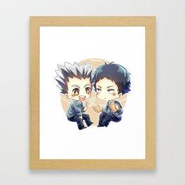Haikyuu!! - Bokuaka Framed Art Print