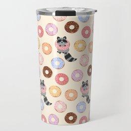 Donut-loving raccoons Travel Mug