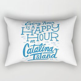 Every Hour is a Happy Hour White Rectangular Pillow