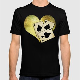 Ace of spades on textured background T-shirt