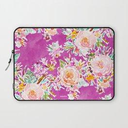 WEIRD STUFF Pink Floral Laptop Sleeve
