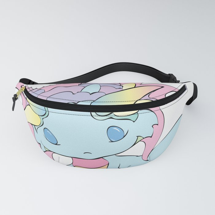 Rainbow Sherbet Baby Dragon Fanny Pack by bittybiteyones
