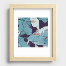Peaceoffering: Sharks! Women! Danger. Recessed Framed Print