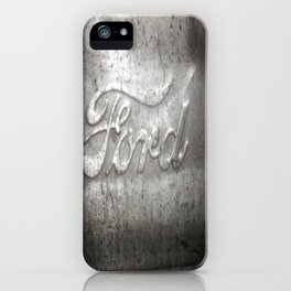 Ford Motors Black and white film Photography iPhone Case