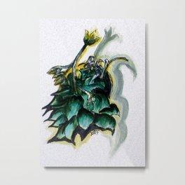 Erika Spring Plant Digital Enhanced Metal Print
